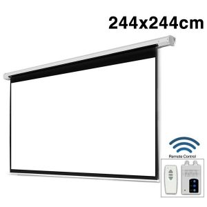 ELECTRICAL SCREEN 244x244cm WITH RF REMOTE