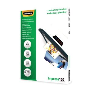 Fellowes A5 Glossy 100 Micron Laminating Pouch - 100 pack