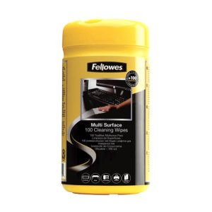 Fellowes 100 Surface Cleaning Wipes